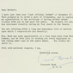 Letter: 1957 January 2
