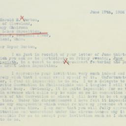 Letter: 1936 June 17