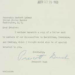 Letter: 1953 October 23