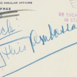 Envelope: 1950 August 25