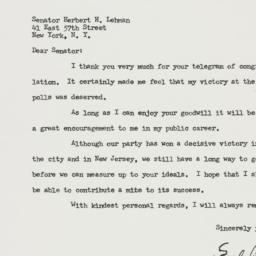 Letter: 1957 November 8