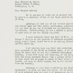 Letter: 1952 November 11