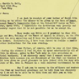 Invitation: 1932 March 30