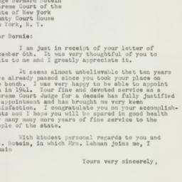 Letter: 1951 December 11
