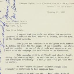 Letter: 1950 October 31