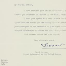 Letter: 1947 November 19