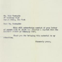 Letter: 1950 May 23