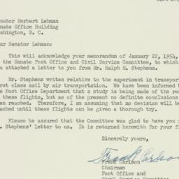 Letter: 1954 January 28