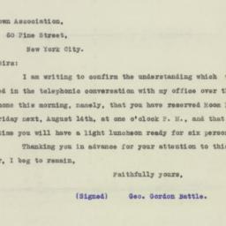Letter: 1925 August 11
