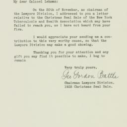Letter: 1925 December 16