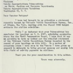 Letter: 1954 May 19
