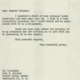 Letter: 1952 February 6