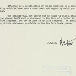 Memorandum: 1954 July 6