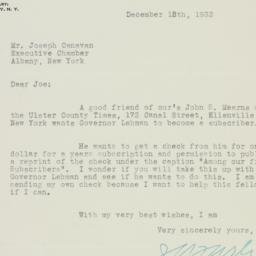 Letter: 1932 December 15