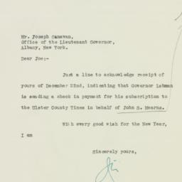 Letter: 1932 December 28