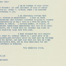 Letter: 1932 November 3