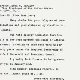 Letter: 1949 November 11