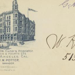 Hotel Westminster. Envelope