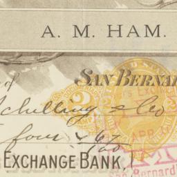 Farmers Exchange Bank. Check