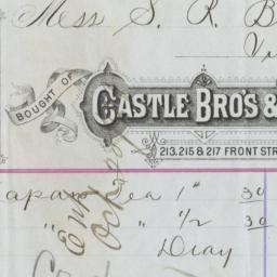 Castle Bro's & Loupe. Bill