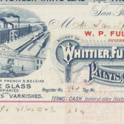 Whittier, Fuller & Co.. Bill
