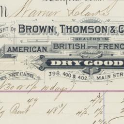 Brown, Thompson & Company. ...