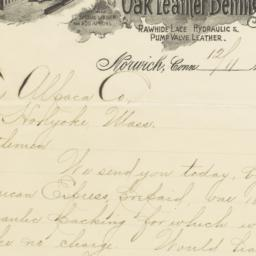 Ulmer Leather Co.. Letter