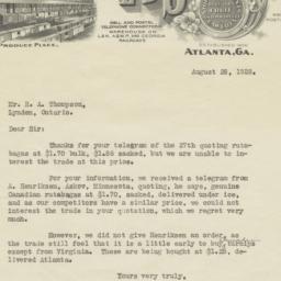 E. B. Stuart & Co.. Letter