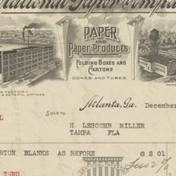 National Paper Company. Bill