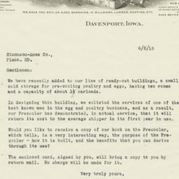 Gordon-Van Tine Co.. Letter