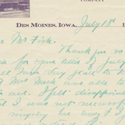 Hotel Royal. Letter