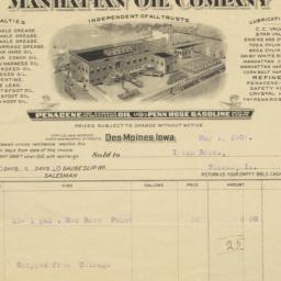 Manhattan Oil Company. Bill