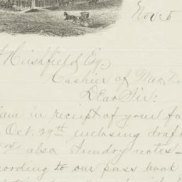 Overland Hotel. Letter