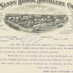 Sunny Brook Distillery Co.....