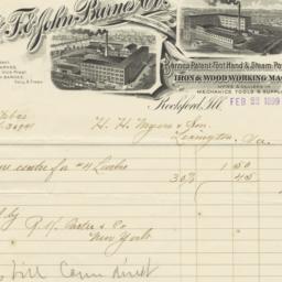 W. F. & John Barnes Co.. Bill