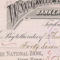 W. W. Gavitt & Co.. Check