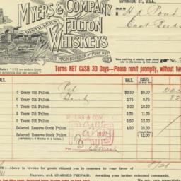 Myers & Company. Bill