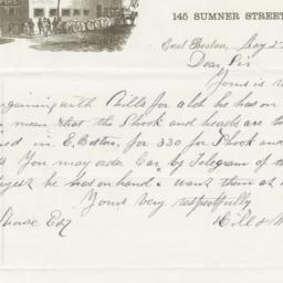 Hill & Wright. Letter