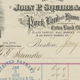 John P. Squire & Company. L...