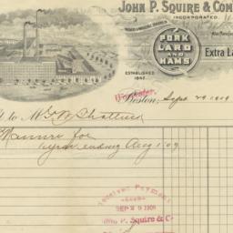 John P. Squire & Company. Bill
