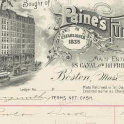 Paine's Furniture Co.. Bill