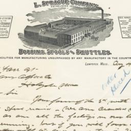 L. Sprague Company. Bill