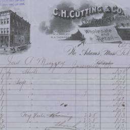 C. H. Cutting & Co.. Bill