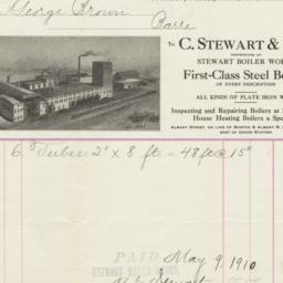 C. Stewart & Son. Bill