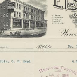E. T. Smith & Co.. Bill