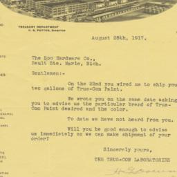 Trus-Con Laboratories. Letter