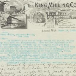 King Milling Co.. Letter
