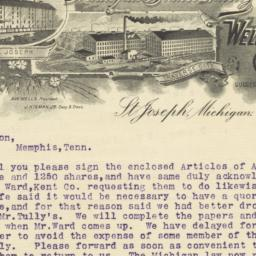 Wells, Higman Company. Letter