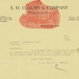 S. H. Clausin & Company. Le...