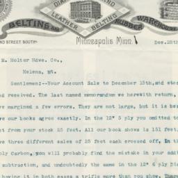 W.S. Nott Company. Letter